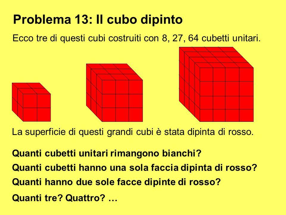 Problema 13: Il cubo dipinto