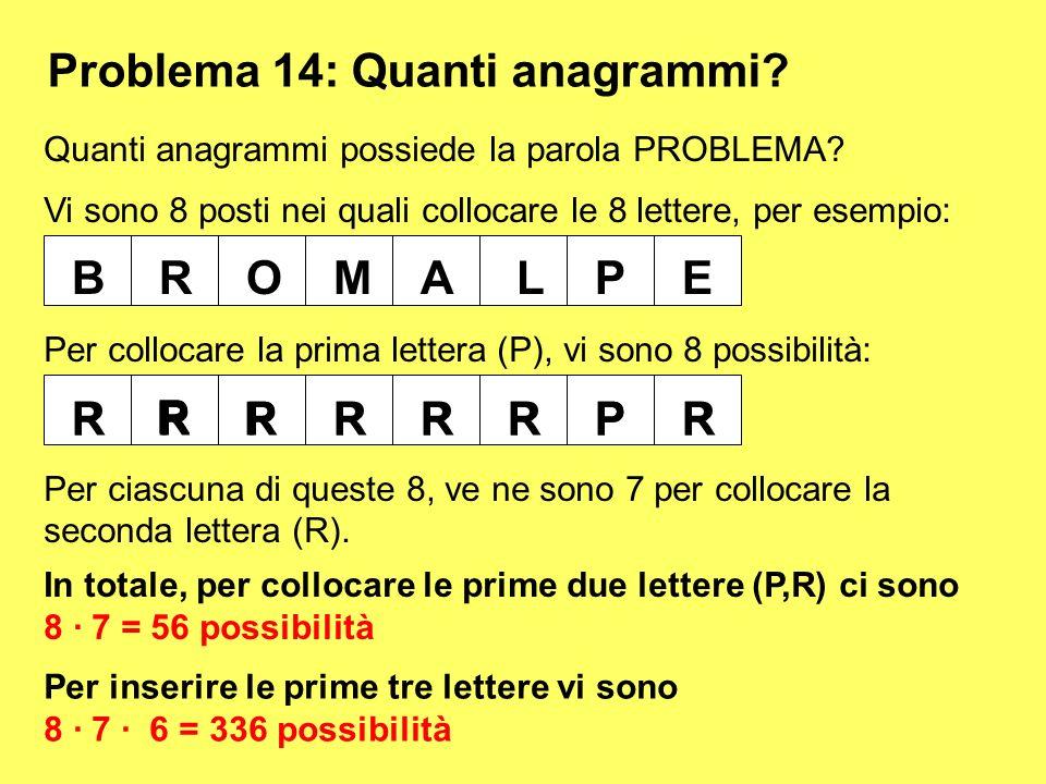 Problema 14: Quanti anagrammi