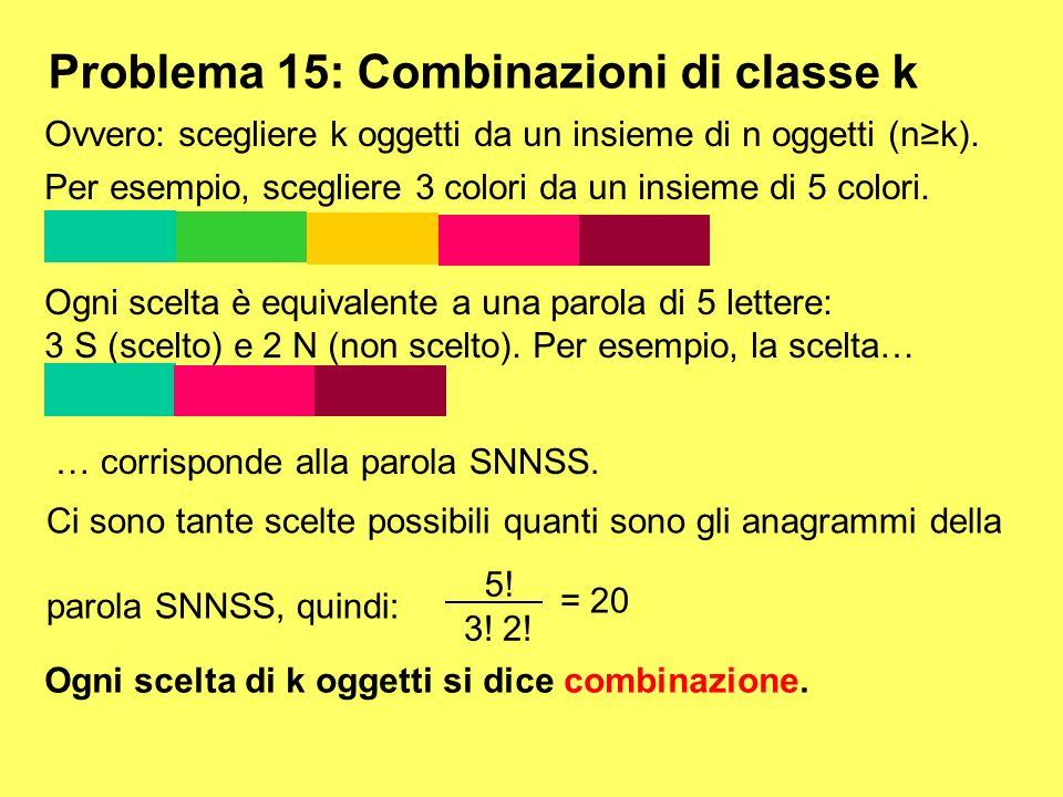 Problema 15: Combinazioni di classe k