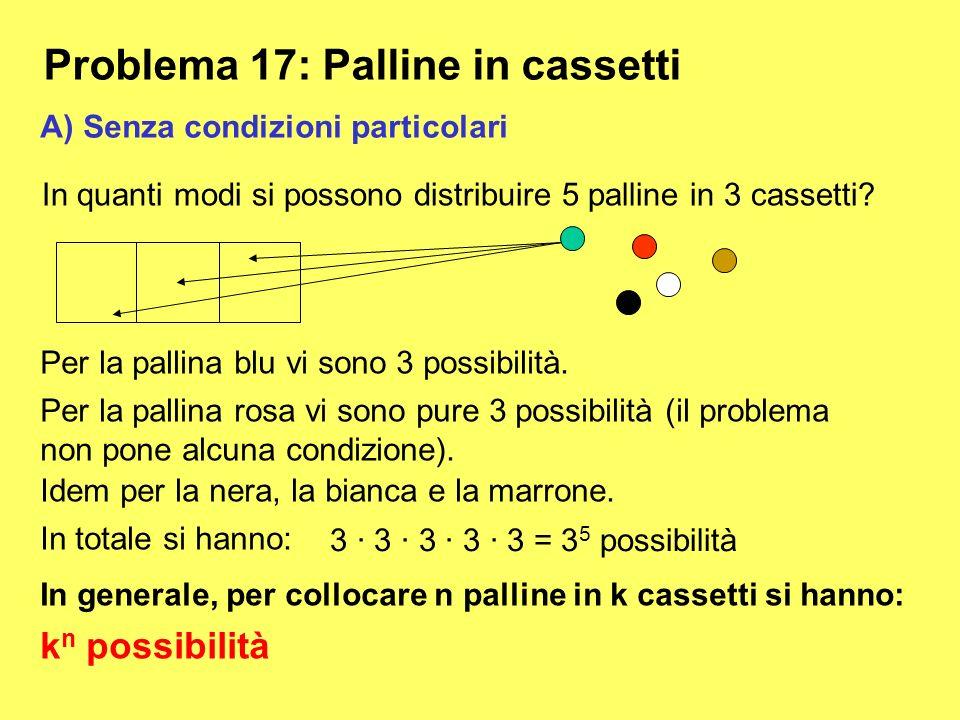 Problema 17: Palline in cassetti