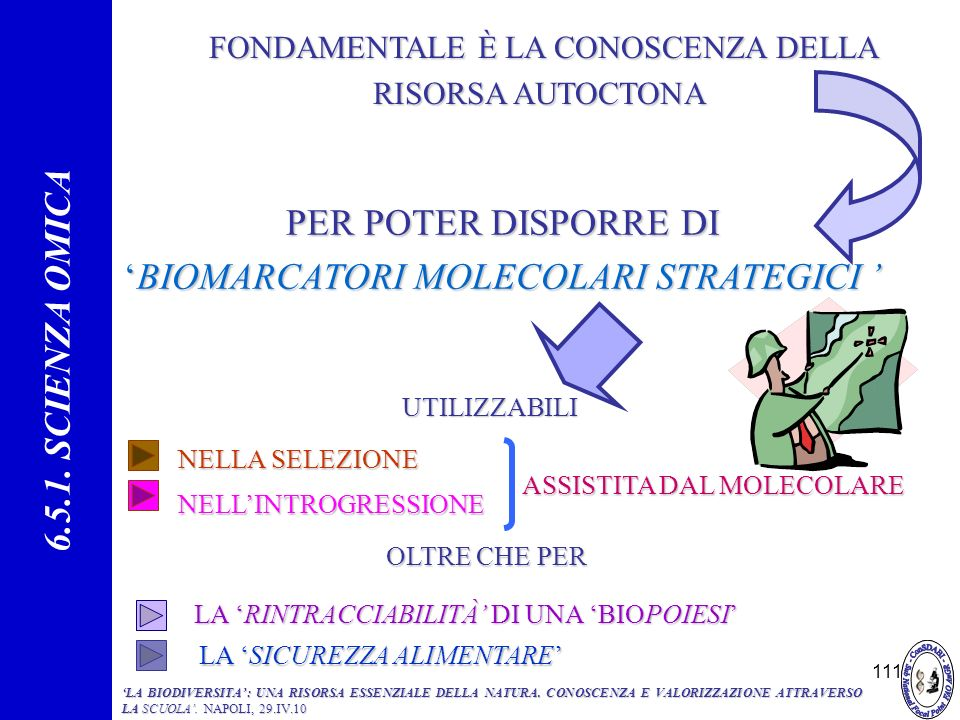 'BIOMARCATORI MOLECOLARI STRATEGICI '