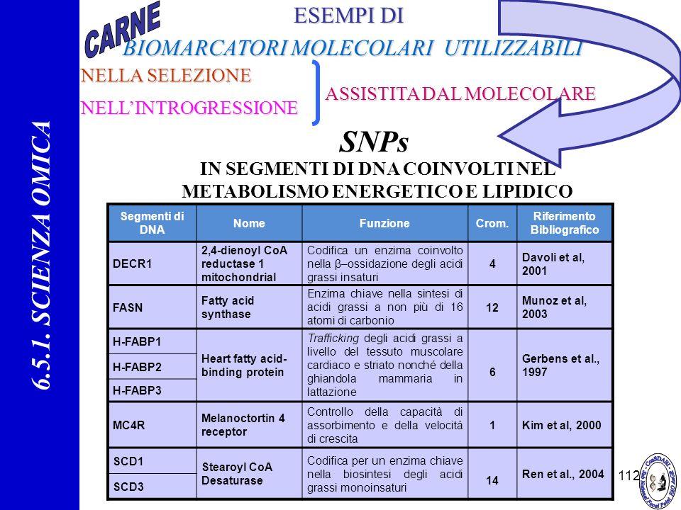 SNPs 6.5.1. SCIENZA OMICA ESEMPI DI