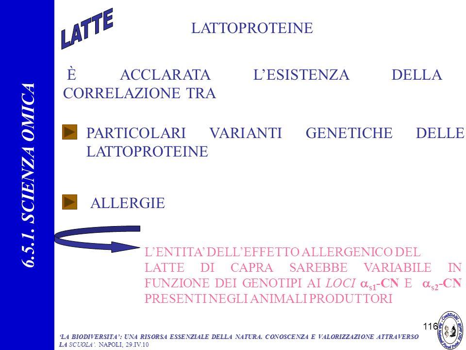 6.5.1. SCIENZA OMICA LATTOPROTEINE