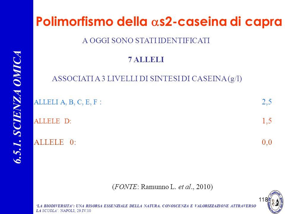 Polimorfismo della as2-caseina di capra