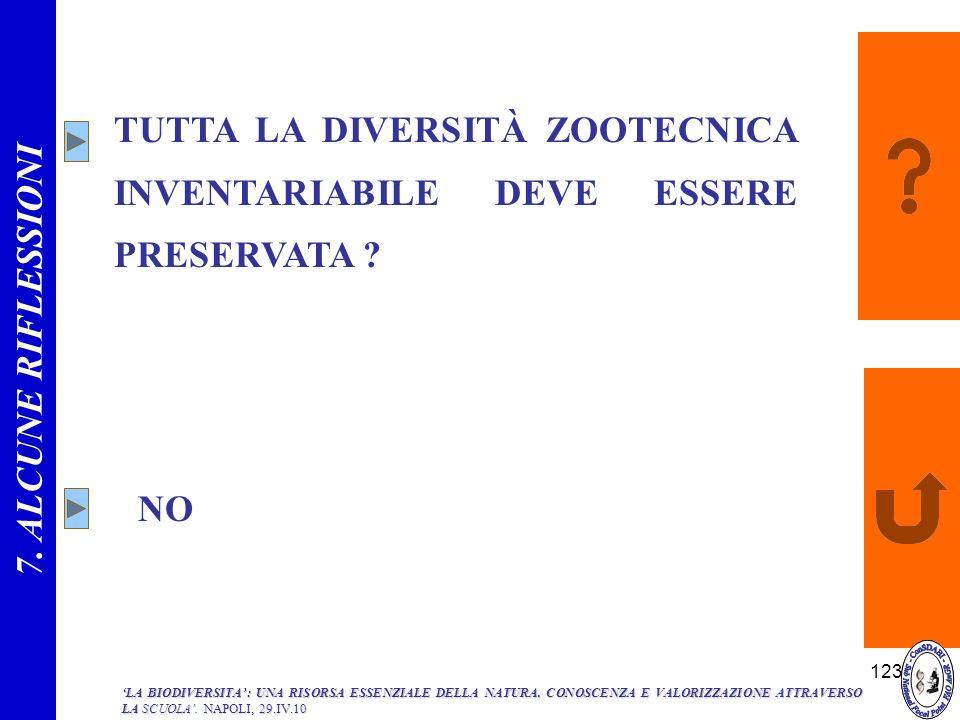 TUTTA LA DIVERSITÀ ZOOTECNICA INVENTARIABILE DEVE ESSERE PRESERVATA