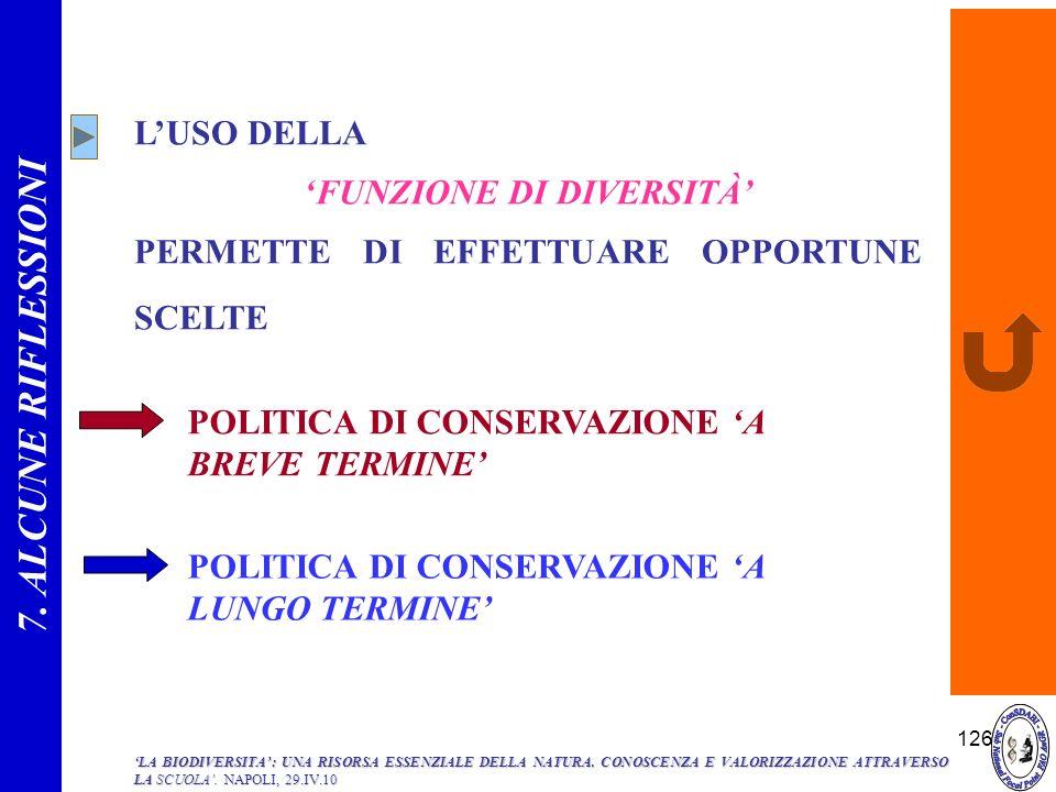 'FUNZIONE DI DIVERSITÀ'