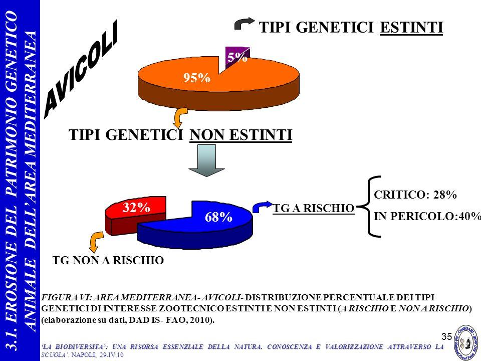 3.1. EROSIONE DEL PATRIMONIO GENETICO ANIMALE DELL'AREA MEDITERRANEA