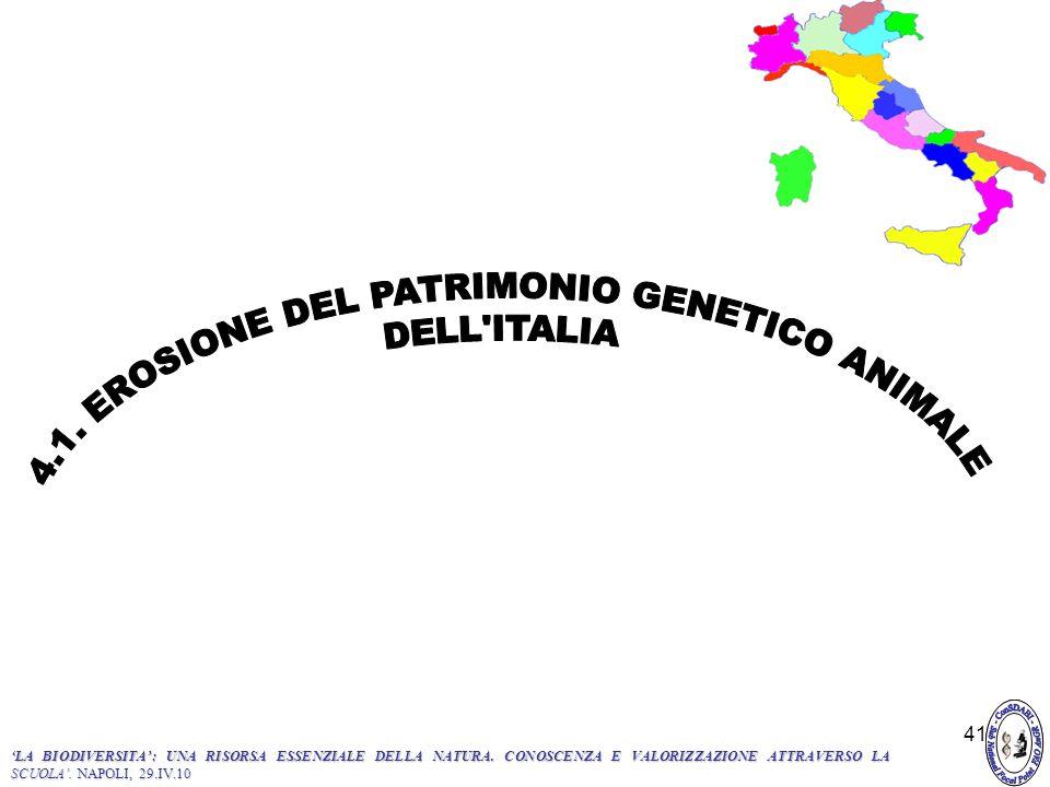 4.1. EROSIONE DEL PATRIMONIO GENETICO ANIMALE