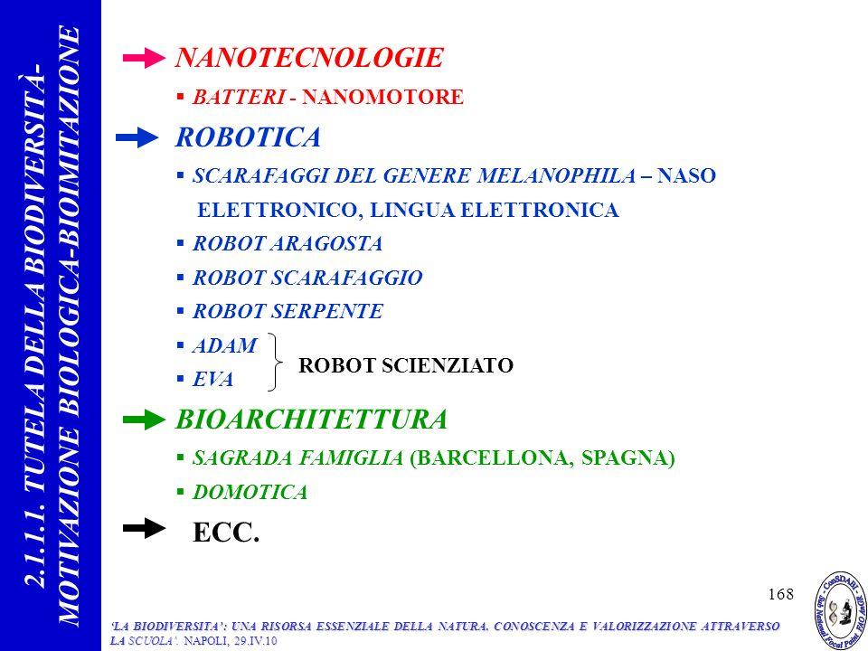 2.1.1.1. TUTELA DELLA BIODIVERSITÀ- MOTIVAZIONE BIOLOGICA-BIOIMITAZIONE
