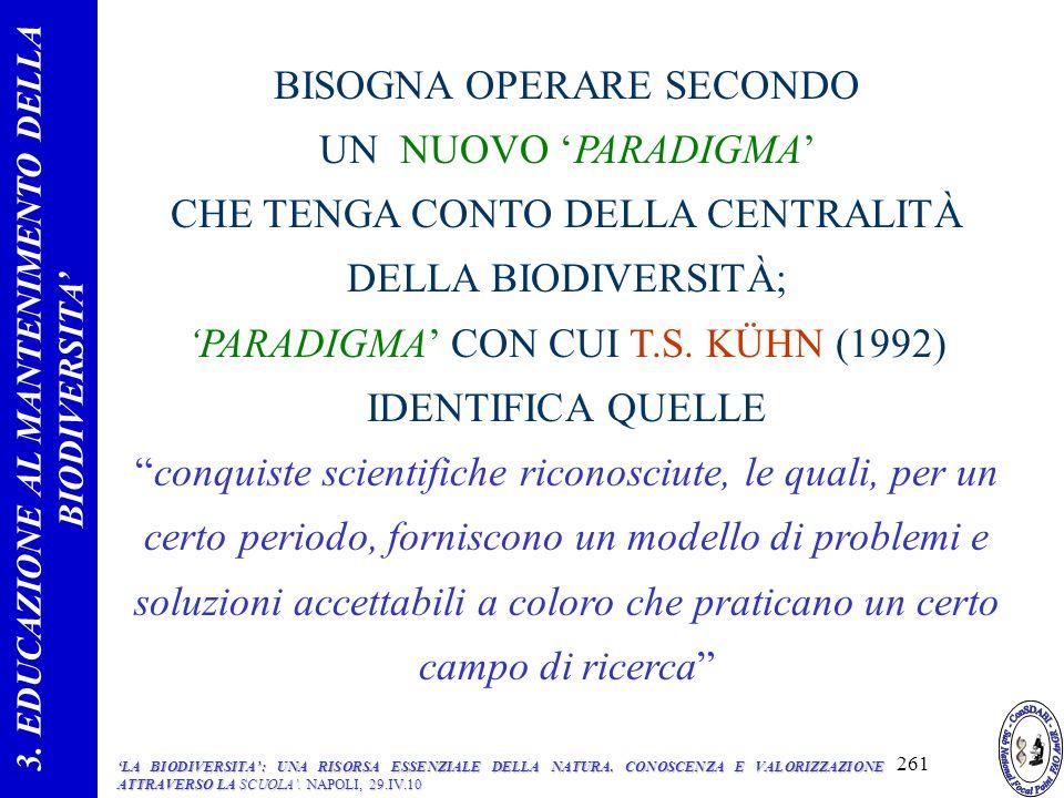 3. EDUCAZIONE AL MANTENIMENTO DELLA BIODIVERSITA'