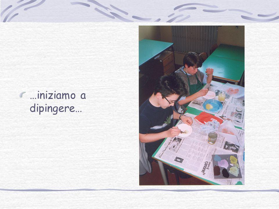 …iniziamo a dipingere…