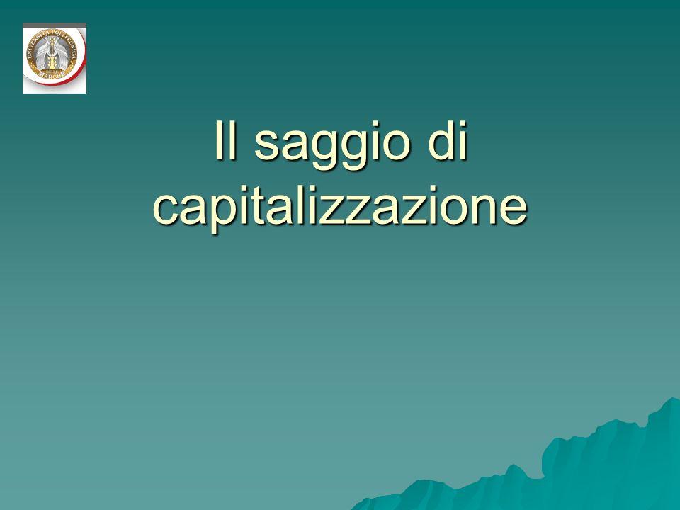 Il saggio di capitalizzazione
