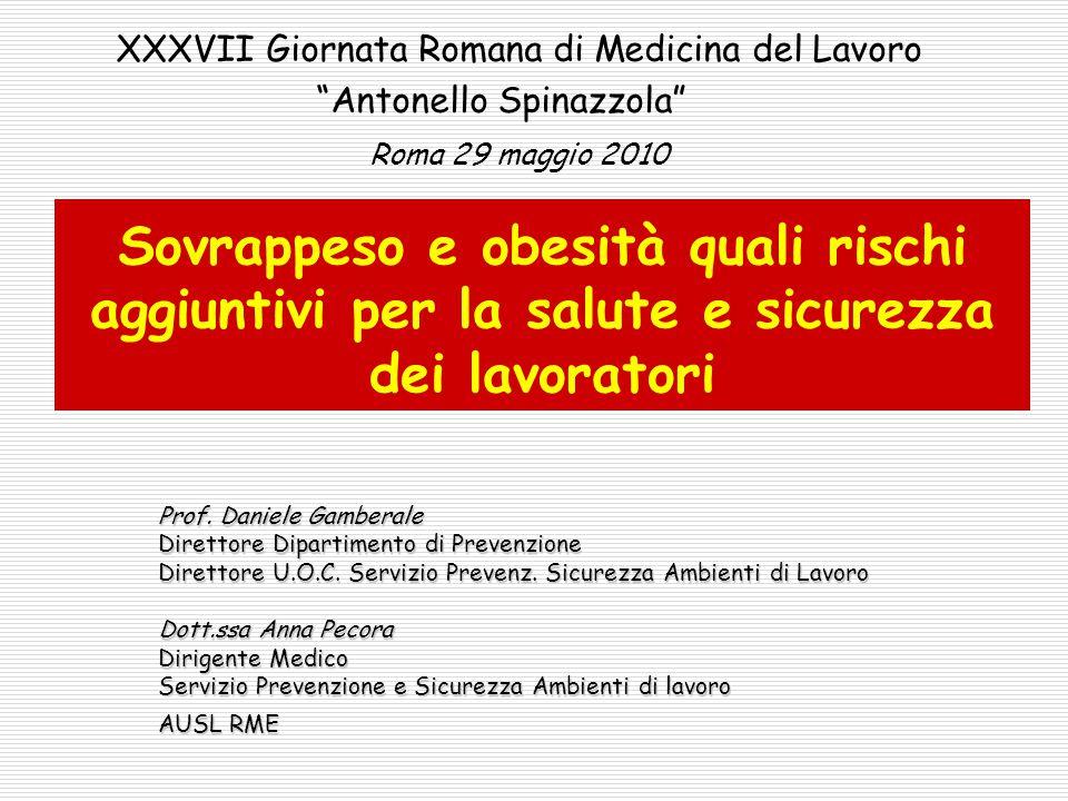 XXXVII Giornata Romana di Medicina del Lavoro