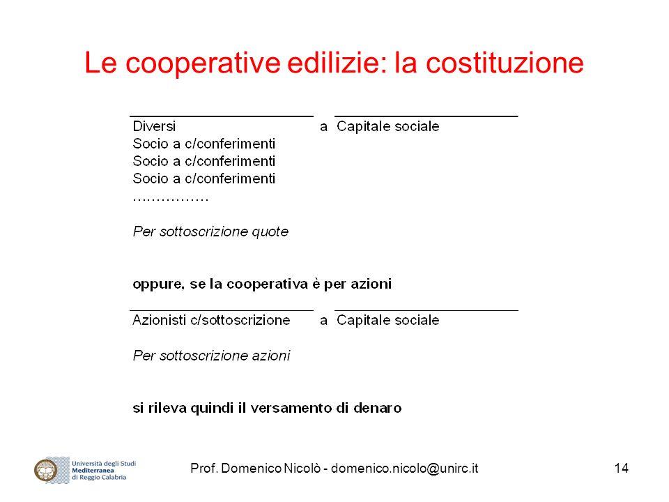 Le cooperative edilizie: la costituzione