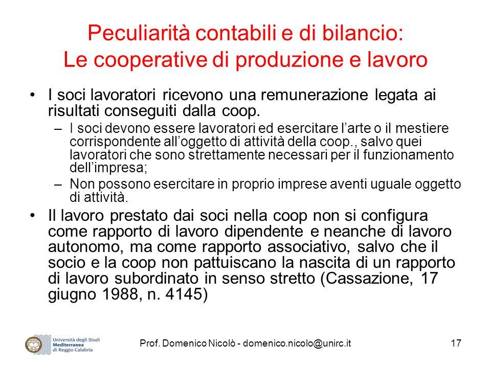 Prof. Domenico Nicolò - domenico.nicolo@unirc.it
