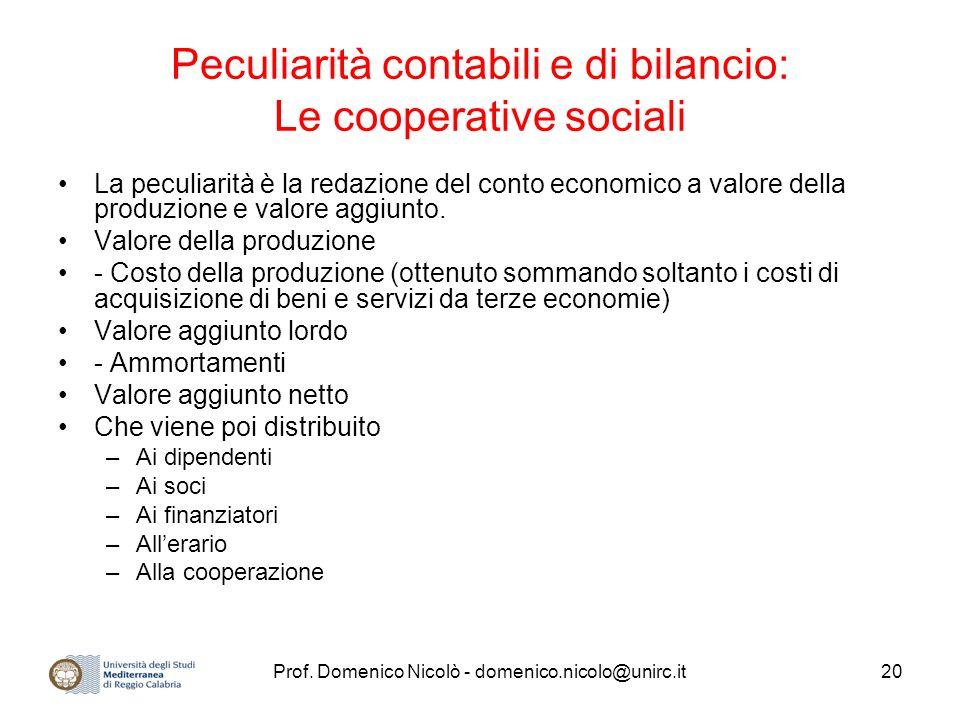 Peculiarità contabili e di bilancio: Le cooperative sociali