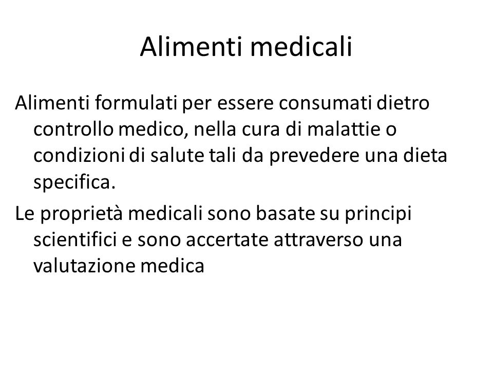 Alimenti medicali