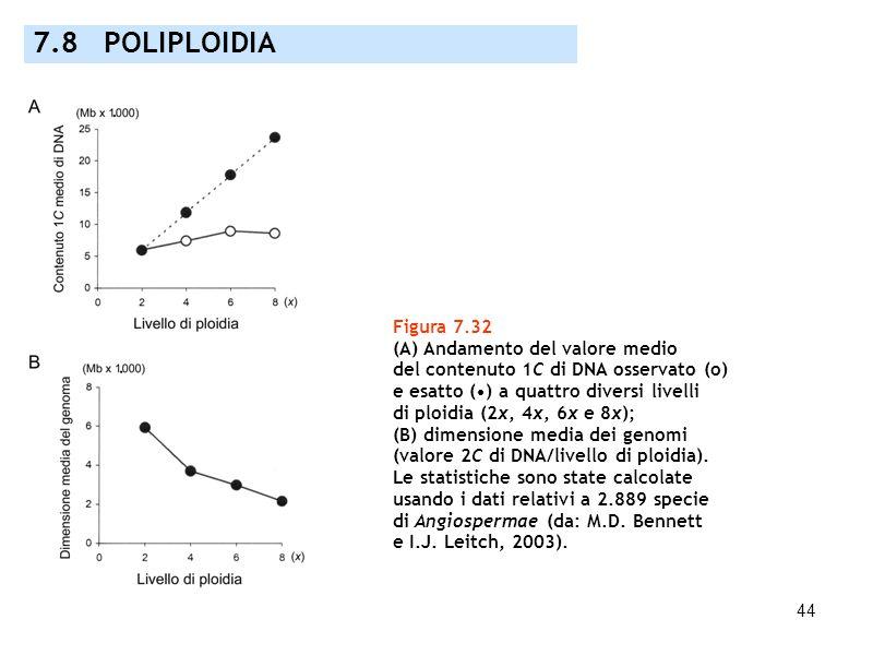 7.8 POLIPLOIDIA Figura 7.32 (A) Andamento del valore medio