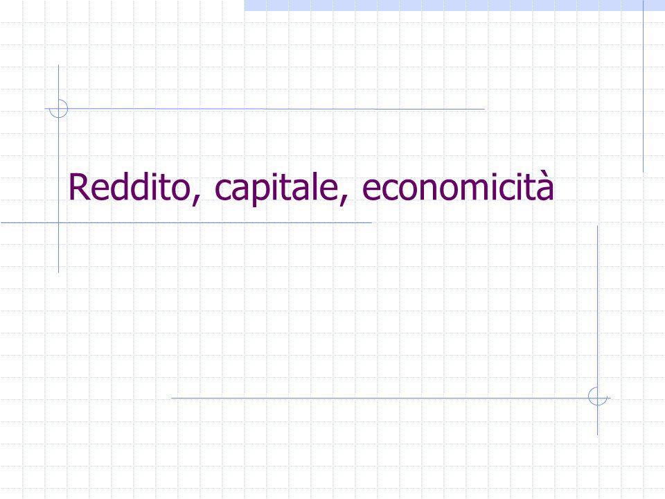 Reddito, capitale, economicità