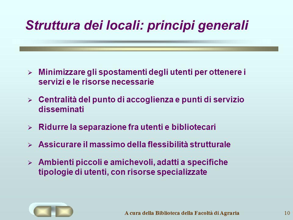 Struttura dei locali: principi generali
