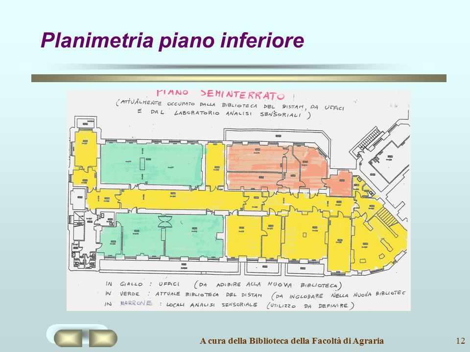Planimetria piano inferiore