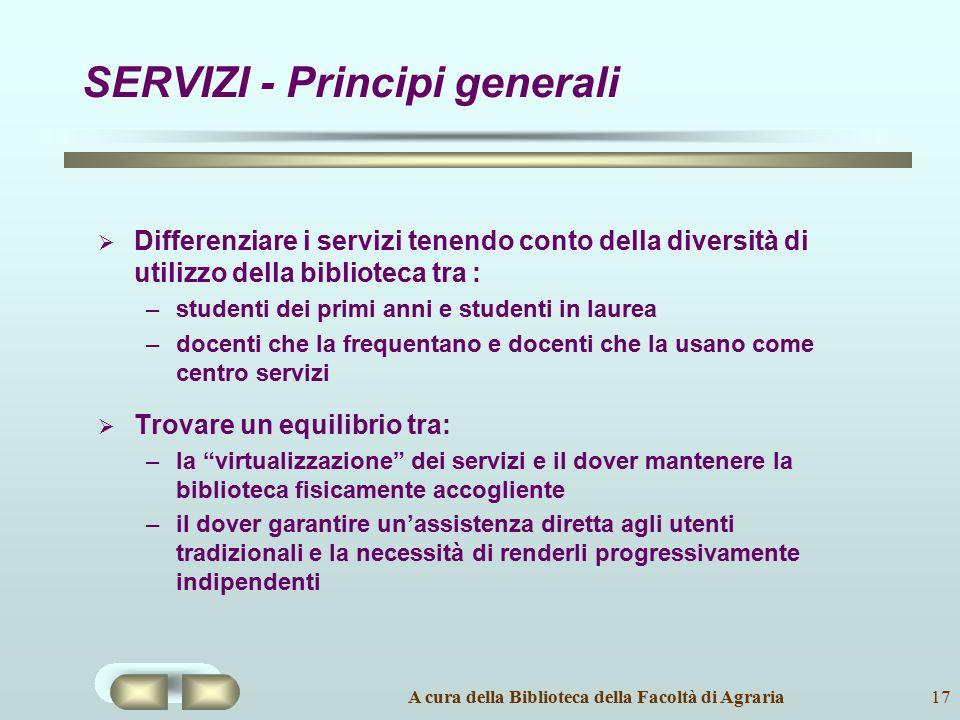 SERVIZI - Principi generali