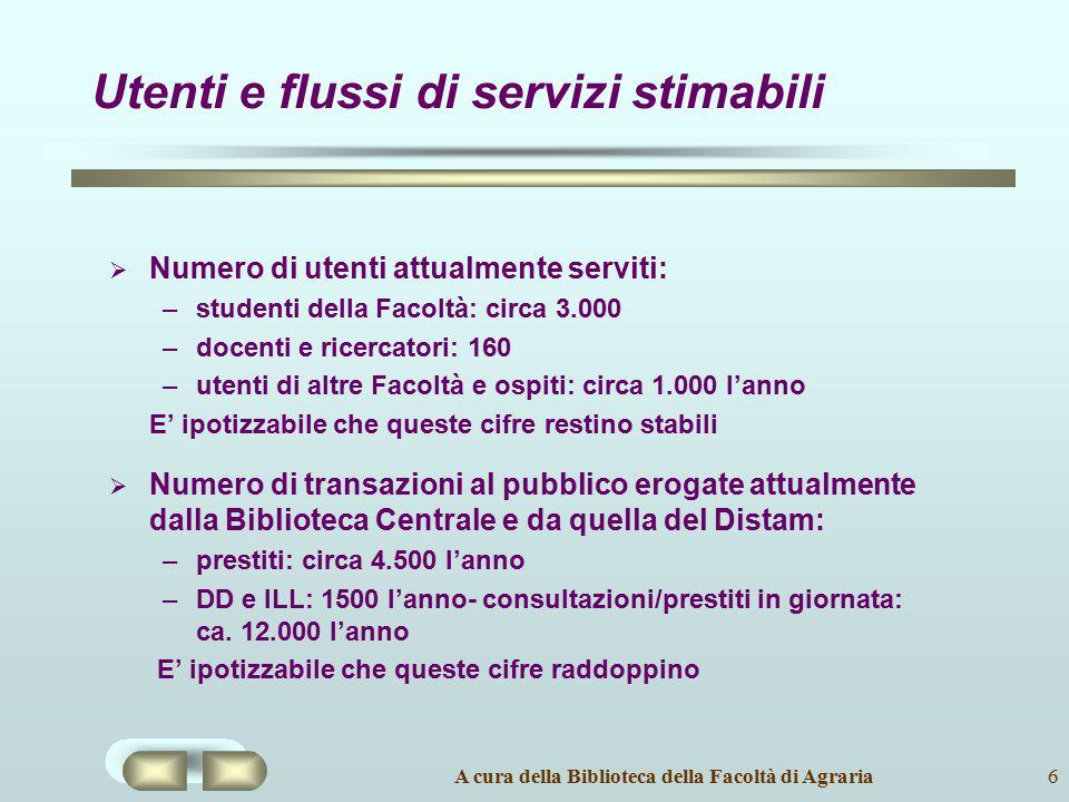 Utenti e flussi di servizi stimabili