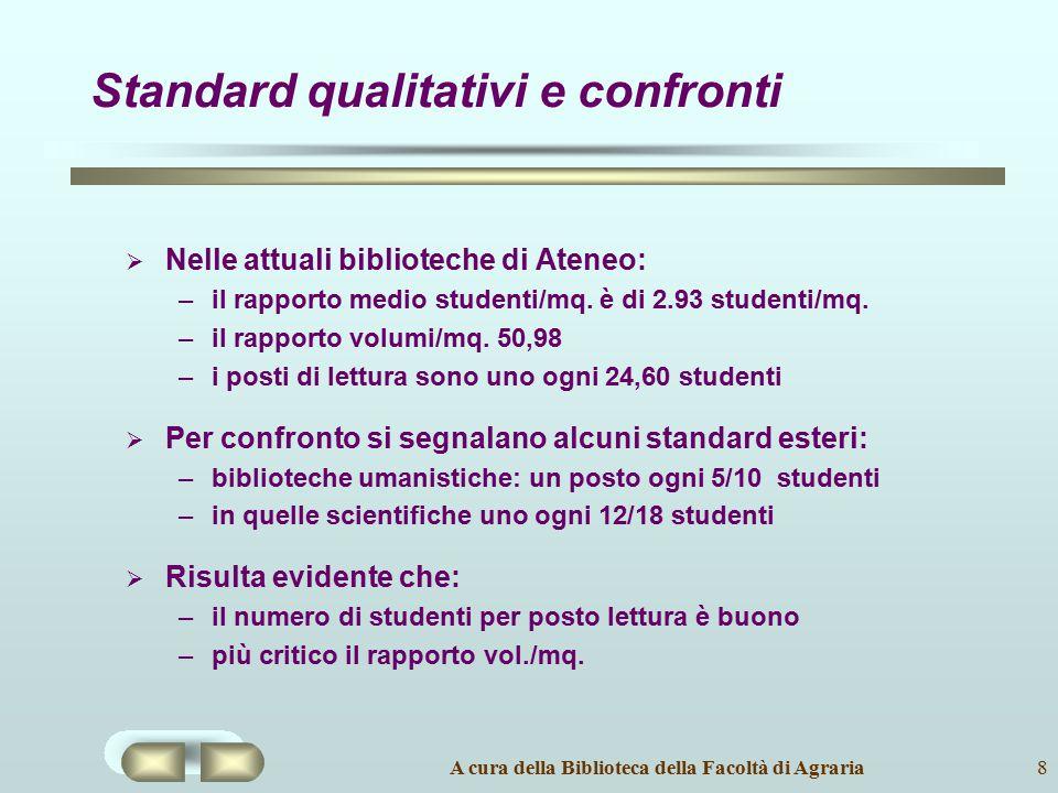 Standard qualitativi e confronti