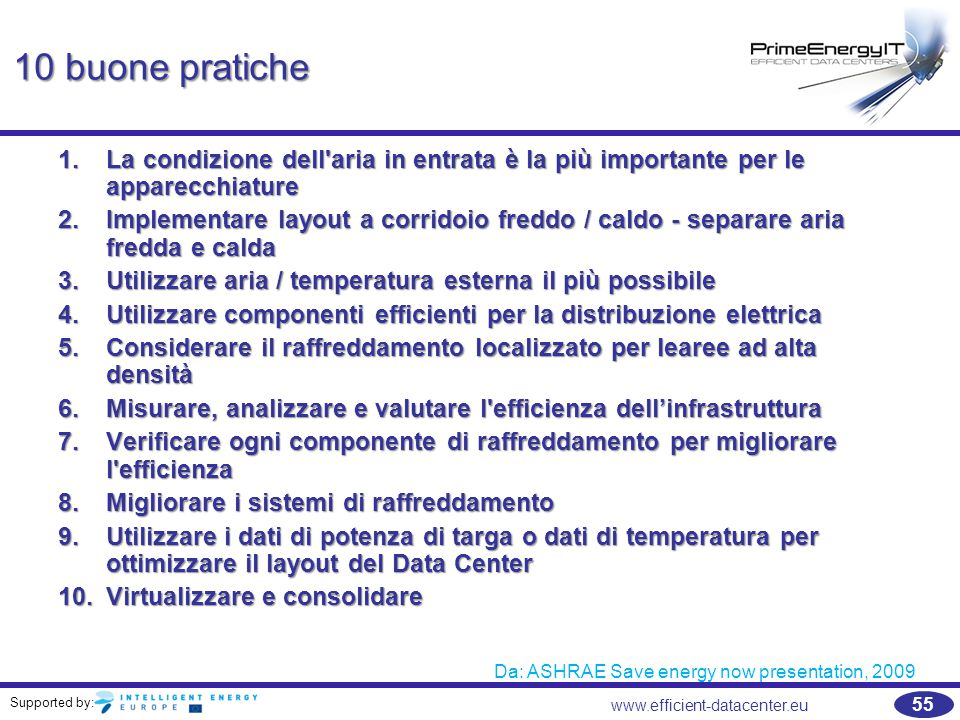 Da: ASHRAE Save energy now presentation, 2009