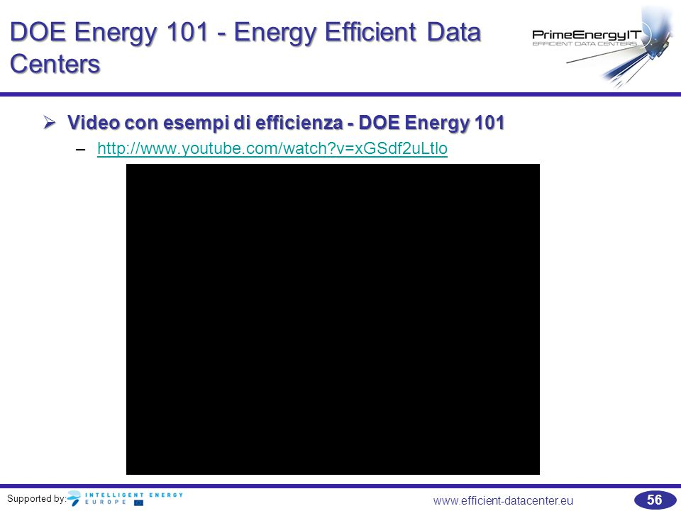 DOE Energy 101 - Energy Efficient Data Centers