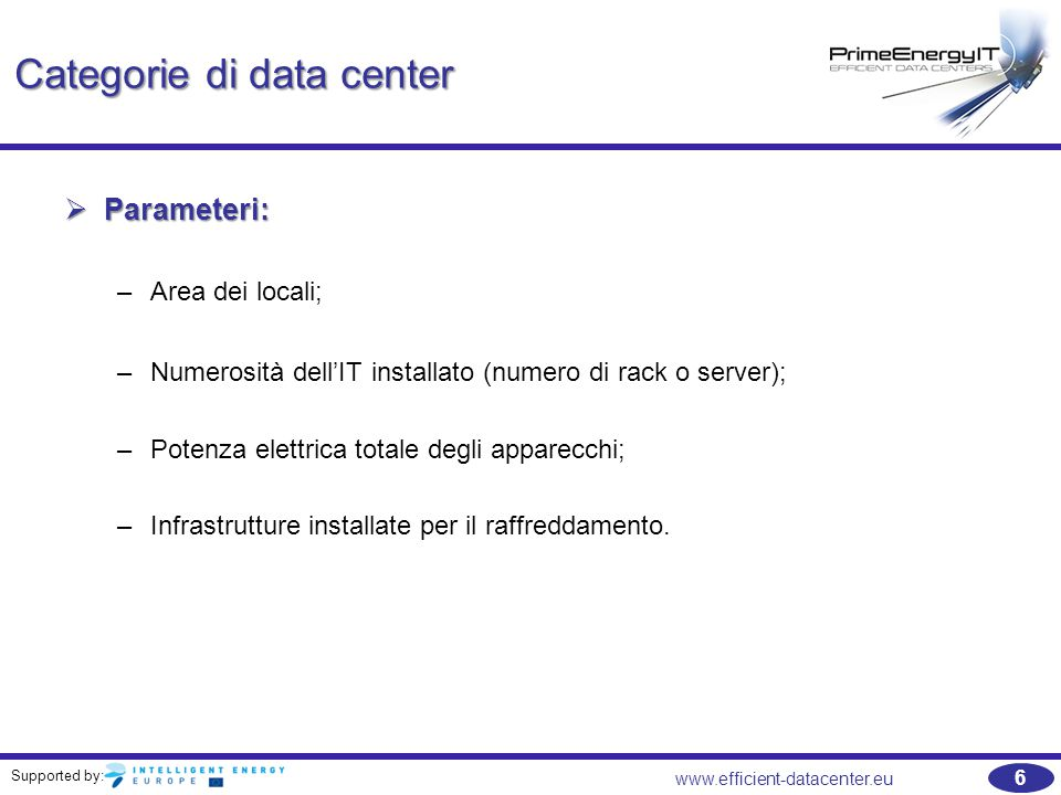 Categorie di data center