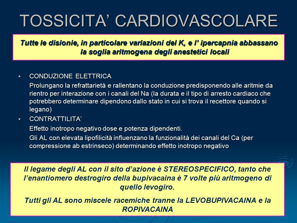 TOSSICITA' CARDIOVASCOLARE