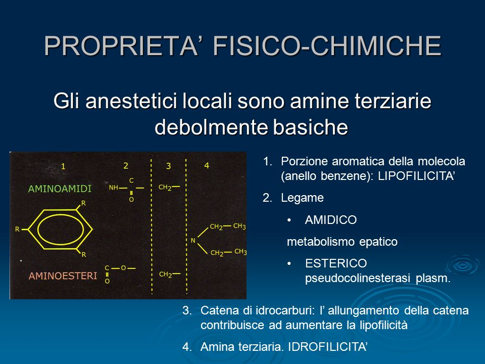 PROPRIETA' FISICO-CHIMICHE