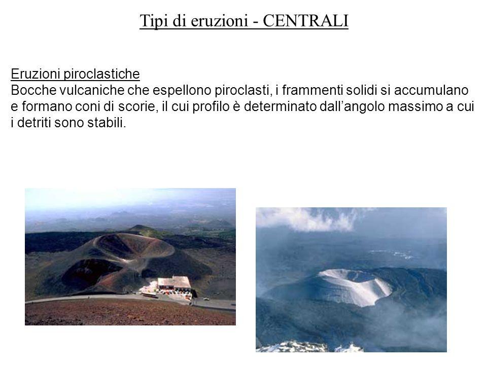 Tipi di eruzioni - CENTRALI