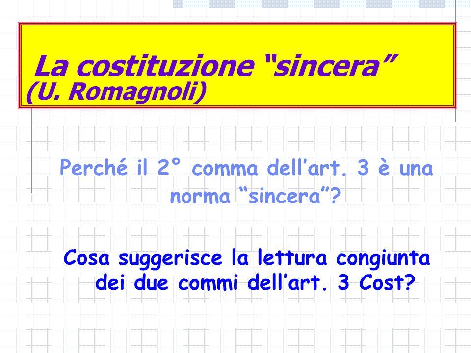 La costituzione sincera (U. Romagnoli)