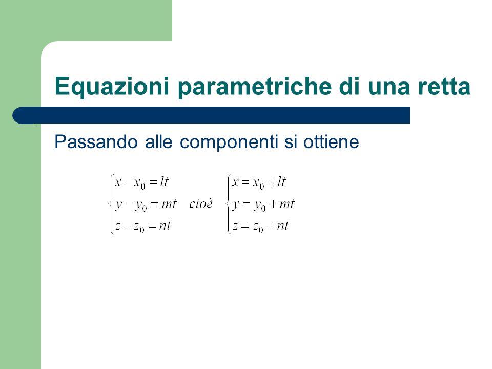 Equazioni parametriche di una retta