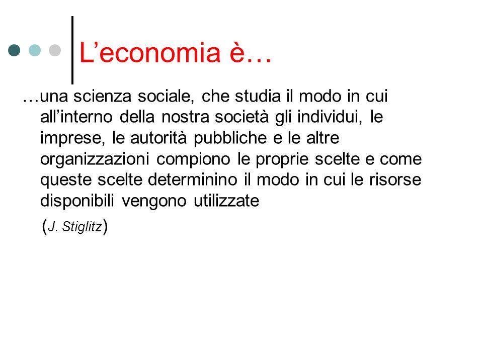 L'economia è…
