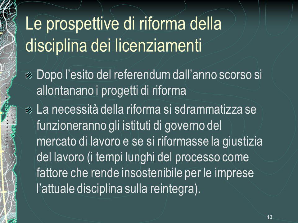 Le prospettive di riforma della disciplina dei licenziamenti