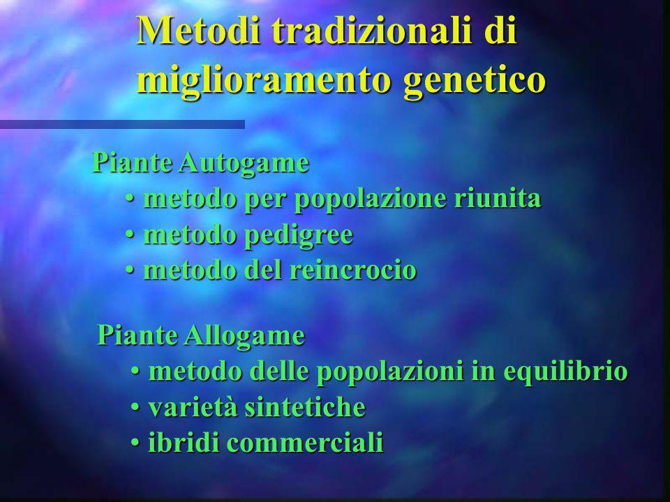 Metodi tradizionali di miglioramento genetico