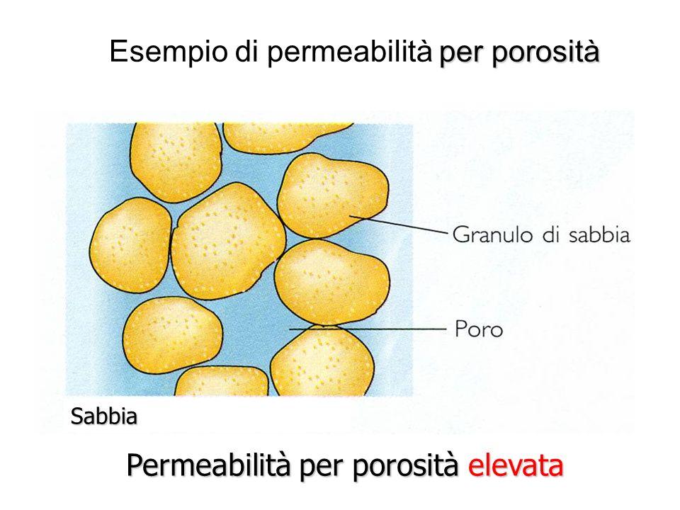 Esempio di permeabilità per porosità