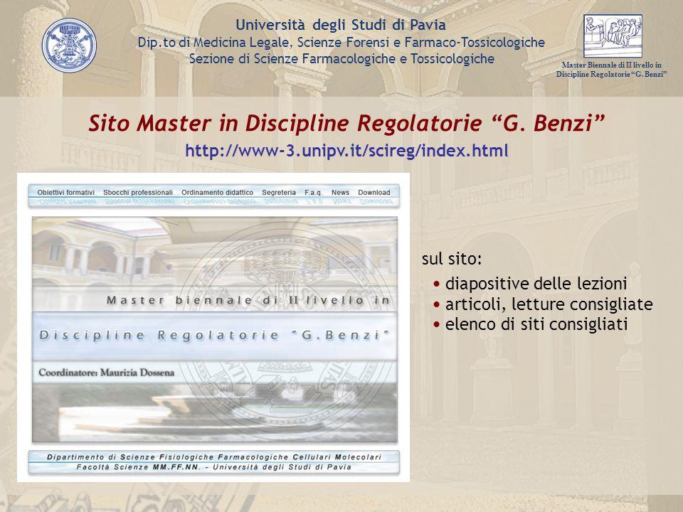 Sito Master in Discipline Regolatorie G. Benzi