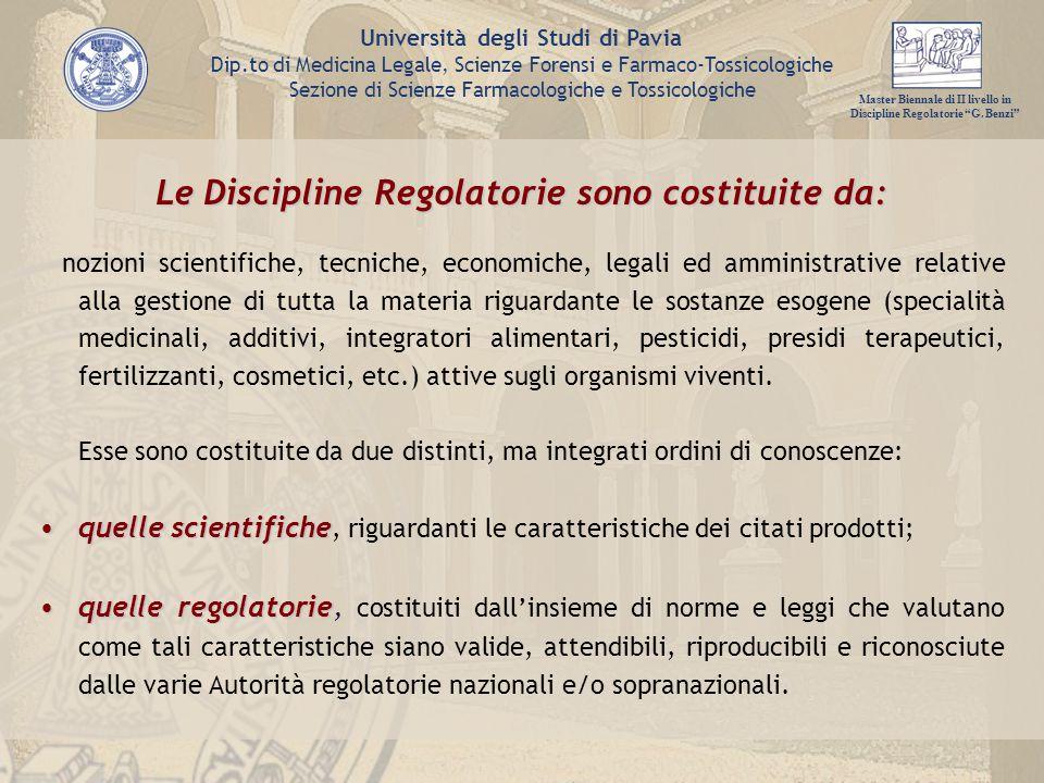 Le Discipline Regolatorie sono costituite da: