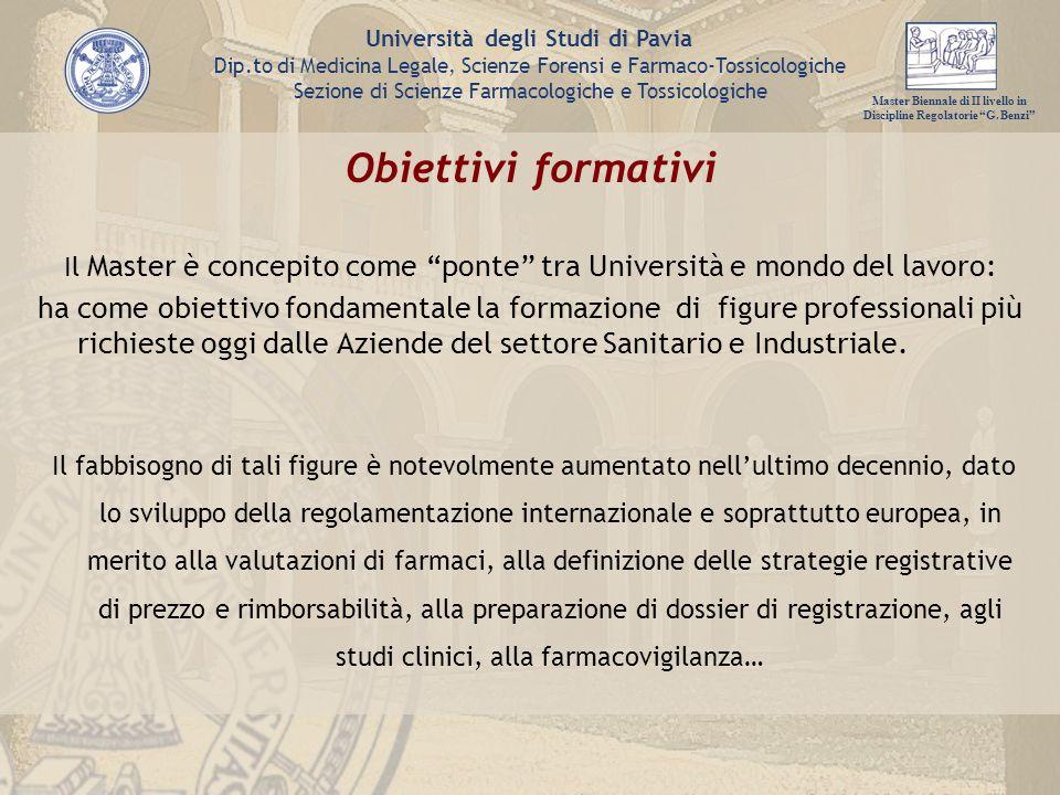 Il Master è concepito come ponte tra Università e mondo del lavoro: