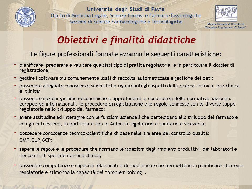 Obiettivi e finalità didattiche