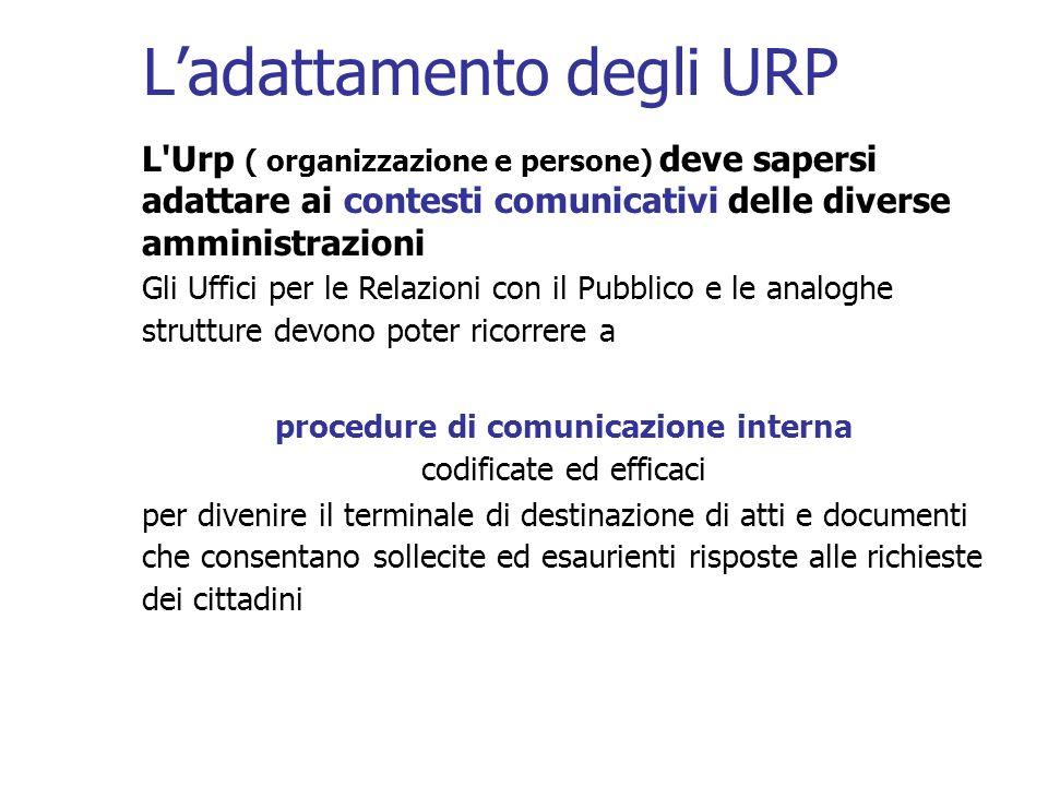 L'adattamento degli URP