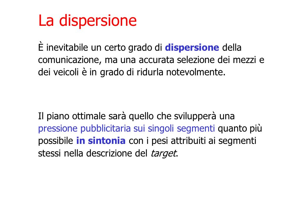 La dispersione