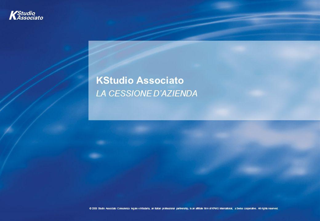 KStudio Associato LA CESSIONE D'AZIENDA