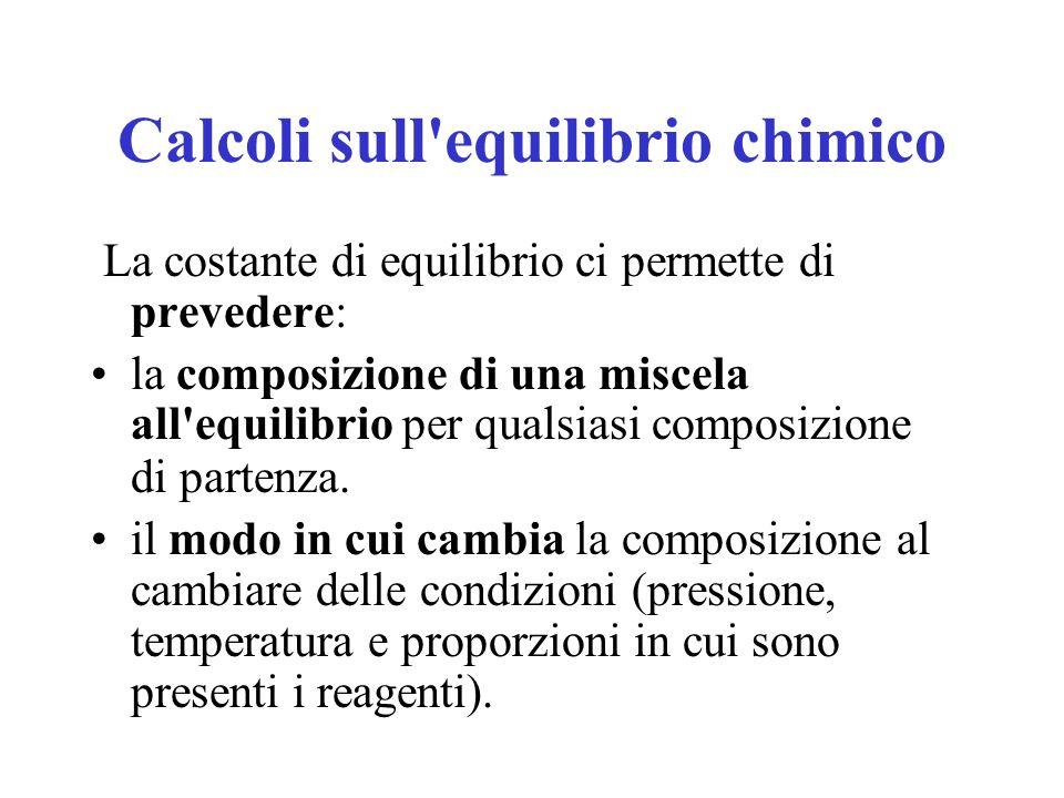 Calcoli sull equilibrio chimico