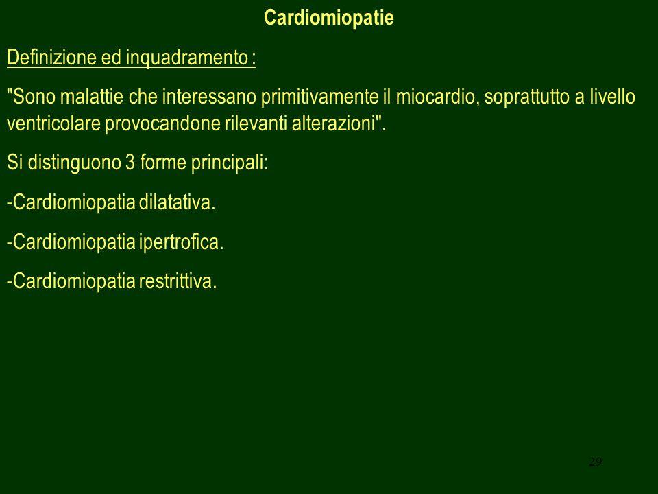 Cardiomiopatie Definizione ed inquadramento :