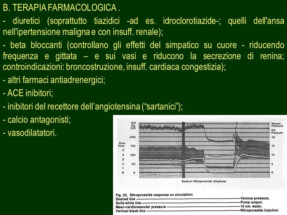 B. TERAPIA FARMACOLOGICA .